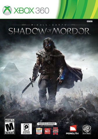 Middle Earth: Shadow of Mordor For Xbox 360 (Physical Disc)