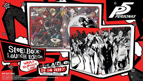 Persona 5 SteelBook Edition Pre-Order For PlayStation 4 (Physical Disc)