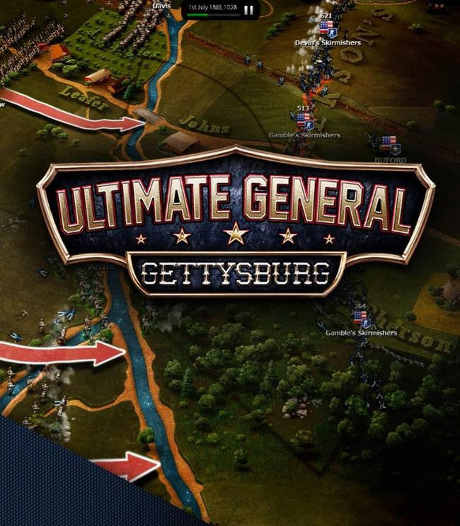 Ultimate General: Gettysburg Windows PC Game Download Steam CD-Key Global
