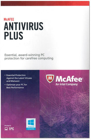 McAfee AntiVirus Plus 1 Year 1 PC Global License Product Key - Digital Download