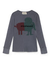 Pigphant Rib T-Shirt, Dusty Blue