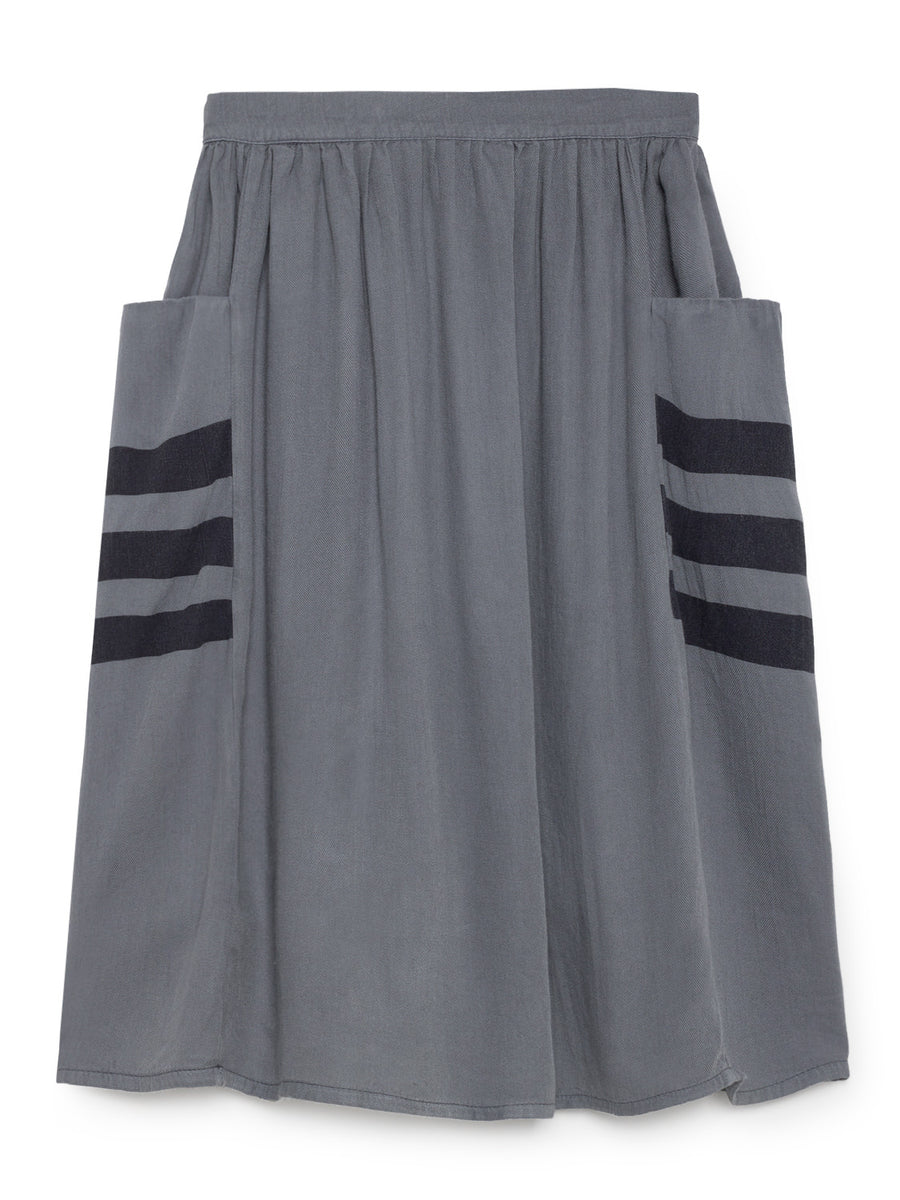 Happy Sad Empty Midi Skirt, Dusty Blue