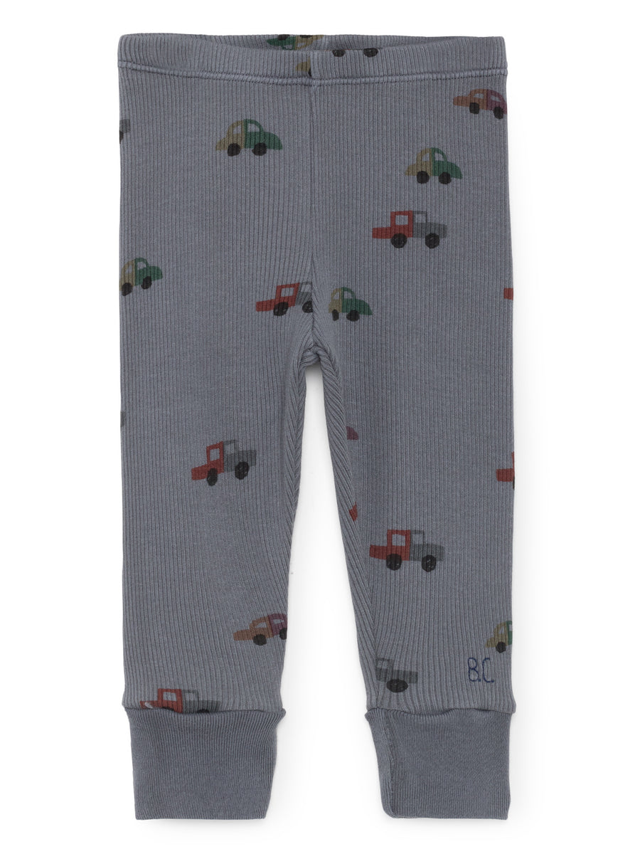 Cars Leggings, Dusty Blue