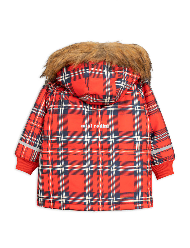 K2 check parka, red