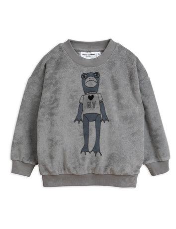 Frog sp terry sweatshirt, grey