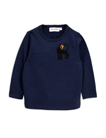 Panther wool sweatshirt, navy