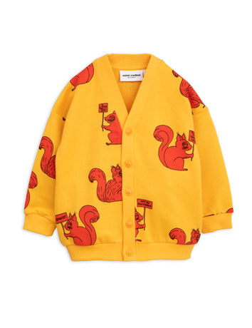 Squirrel cardigan, yellow
