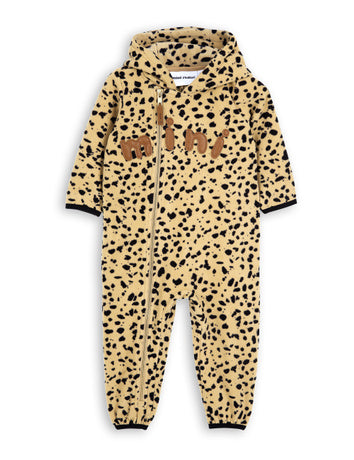 Fleece spot onesie, beige