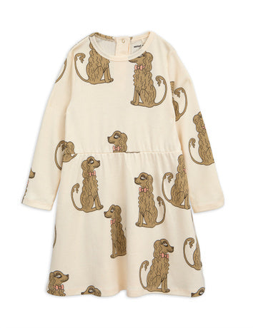 Spaniel ls dress, offwhite