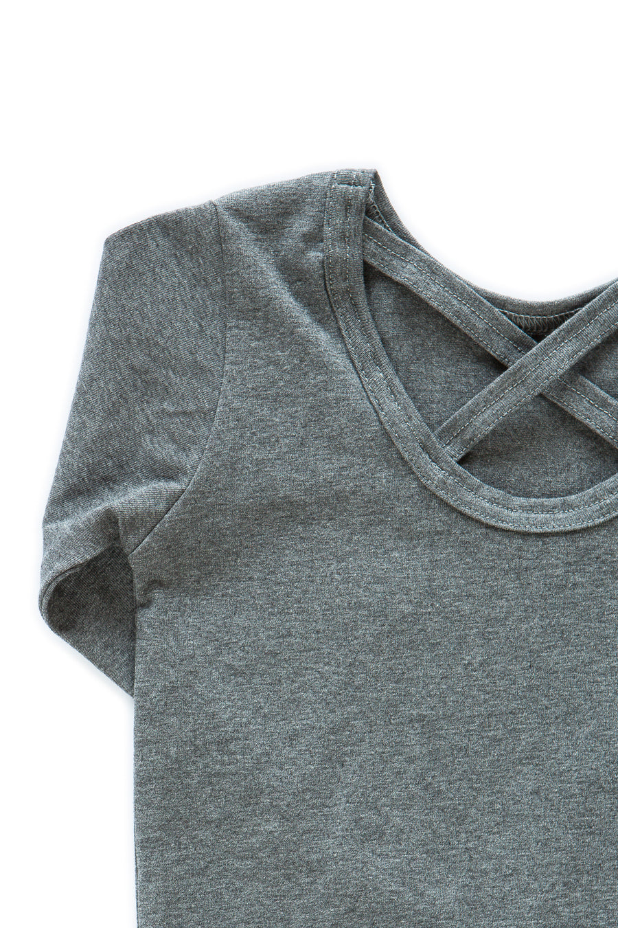 Cross shirt LS, Dark Grey Mel.