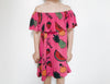 Terry ruffled dress Fruit (18/24kk)