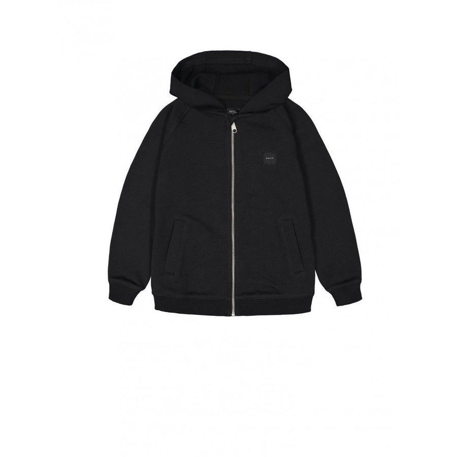 Zip up hooded sweatshirt, black