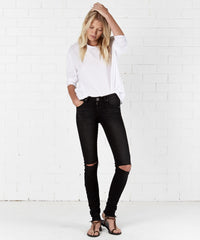 ONE TEASPOON - JETT BLACK HOODLUMS MID RISE SKINNY JEAN