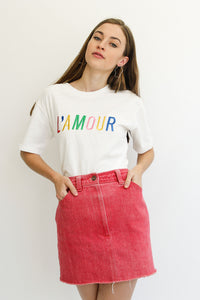 APERO - L'amour embroidered Tee