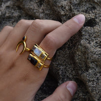 Mountain and Moon - TRYST RING GARNET