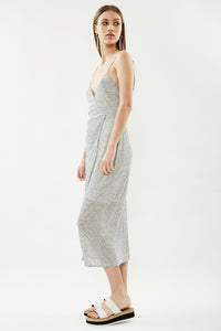 THIRD FORM - HORIZON LINEN JERSEY WRAP DRESS (STRIPE)