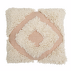 LANGDON -Diamond  Blush Shag Cushion