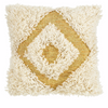 LANGDON -Diamond Gold Shag Cushion