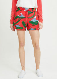 ZOE KARSSEN - ISLAND ALL OVER RELAXED FIT SHORTS