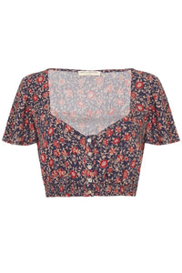 SPELL - Jasmine Cropped Top (NAVY)