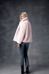 ENA PELLY - Lizzie Faux Fur Jacket (Bubblegum)
