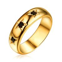 F+H - THE 'STARDUST' RING (22K GOLD + BLACK ONYX)