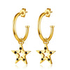 F+H - THE 'FAME' STAR EARRINGS (22K GOLD + BLACK ONYX)