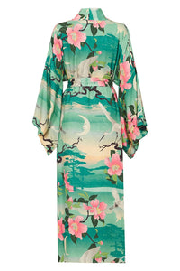 SPELL - Nightingale Reversible Maxi Kimono (Teal/Black)