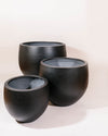 THE ARCHIVE - Fiberstone Moon Rock Planter (Matte Black)