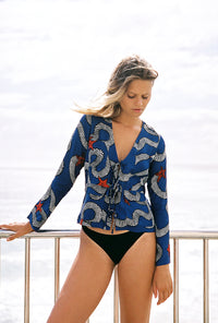 LOTTIE HALL - SEA SNAKE TOP (Blue)