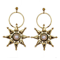 Mountain and Moon - Sitara Earings (Rainbow Moonstone)