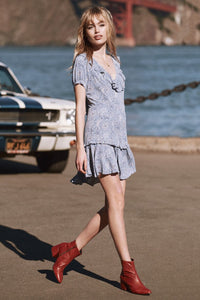 SPELL - Celestial Mini Dress (CHAMBRAY)