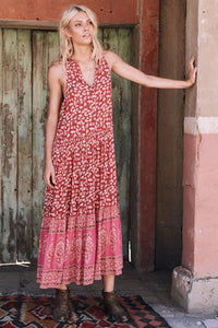 SPELL - Delirium Maxi Dress (Red Coral)