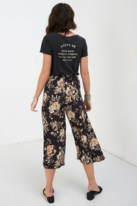 SPELL - Rosa Cropped Pants (Coal)