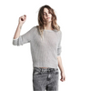ZOE KARSSEN - METALLIC YARN loose fit pullover