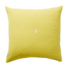 SAGE AND CLARE - Tabitha Heart Cushion (Chartreuse)