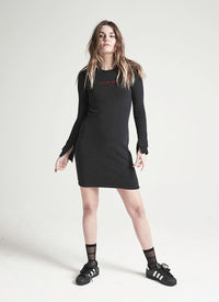 ZOE KARSSEN - SON OF A GUN slim fit long sleeve dress