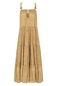 SPELL - Wild Thing Strappy Midi Dress (mustard)