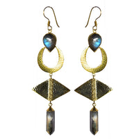 Mountain and Moon - TULAY EARRINGS (LABRADORITE)