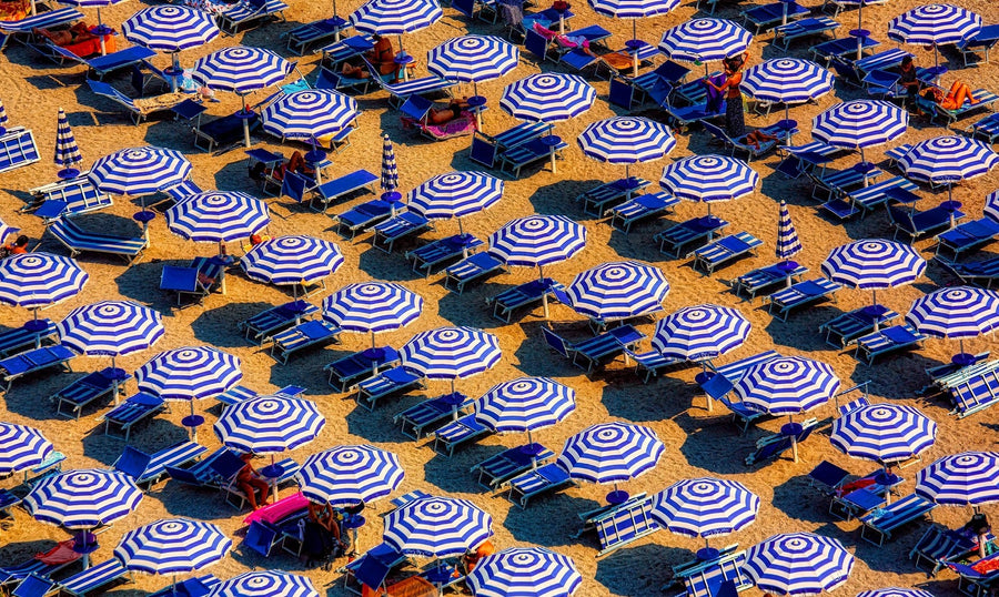 Sunbeds on a beach