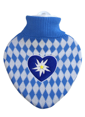 Bavarian Inspired Heart Shaped Hot Water Bottle