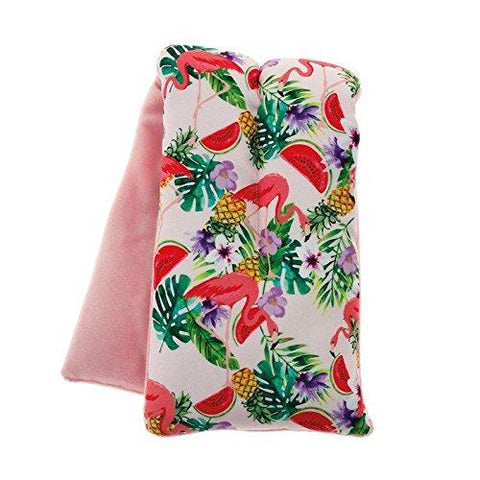 Flamingo Print Scented Microwave Neck Warmer