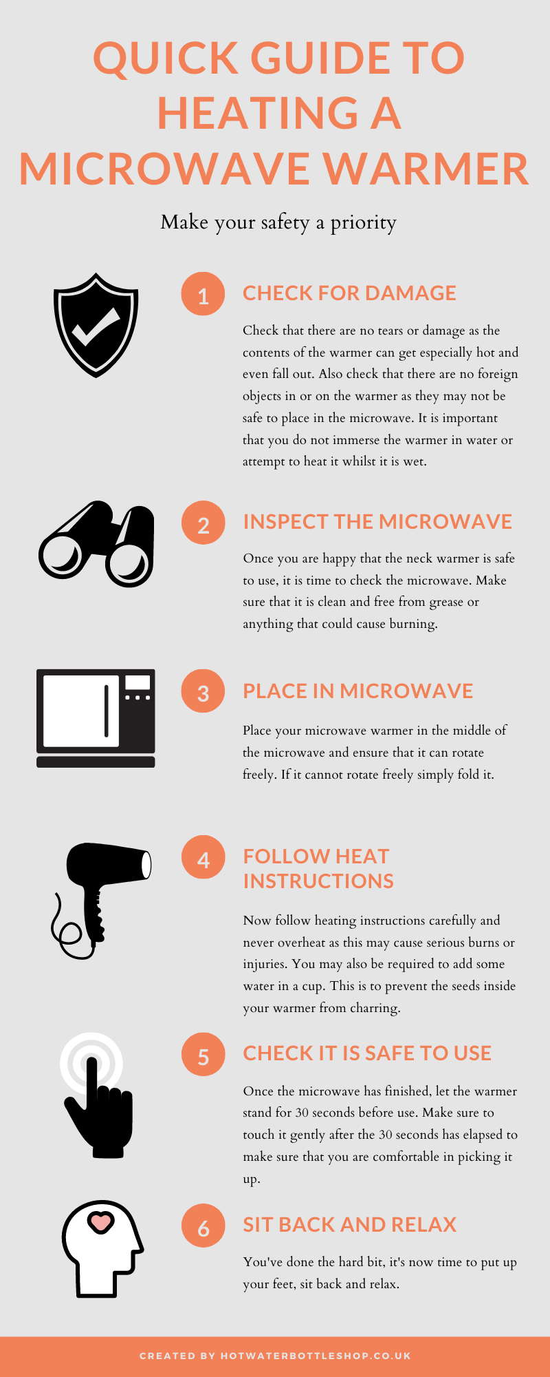 Quick guide to heating your microwave hot water bottle safely