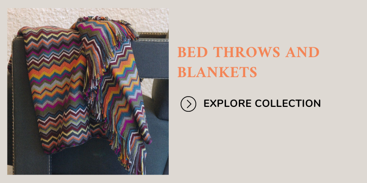 Bed throw and blankets collection