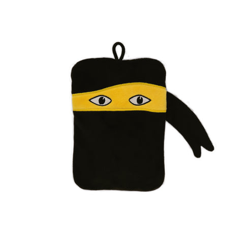 0.2 Litre Luxury Mini Hot Water Bottle with Ninja Velour Cover (rubberless)