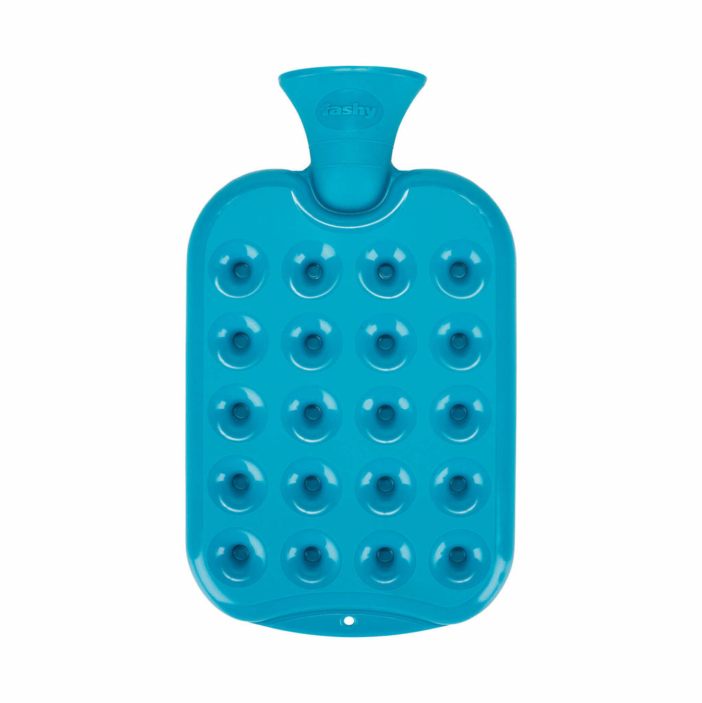 1.2 Litre Blue Honeycomb Pattern Padded Fashy Hot Water Bottle