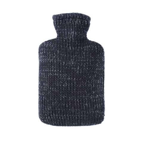 Anthracite Organic Cotton Hot Water Bottle