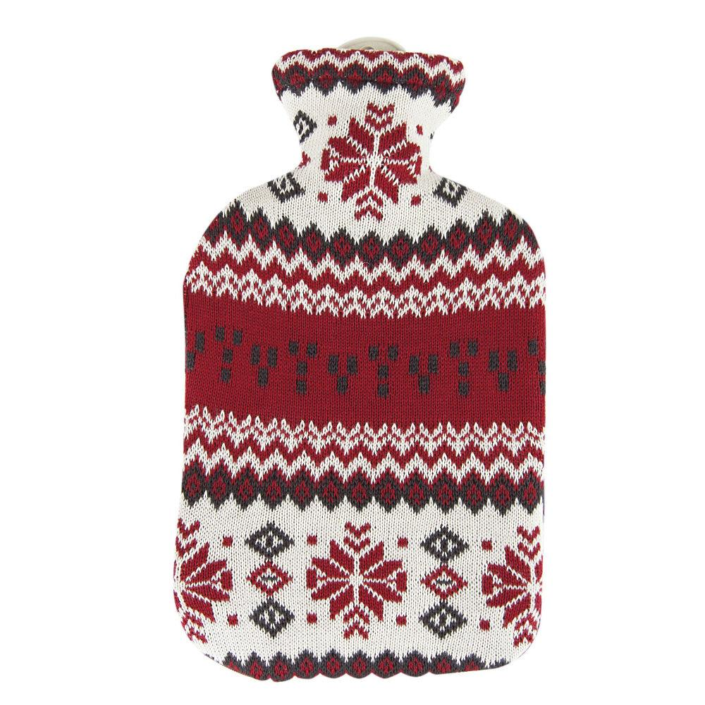 2 Litre Sanger Hot Water Bottle with Knitted North Star Cover