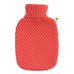1.8 Litre Hot Water Bottle with Knitted Coral Cover (rubberless)