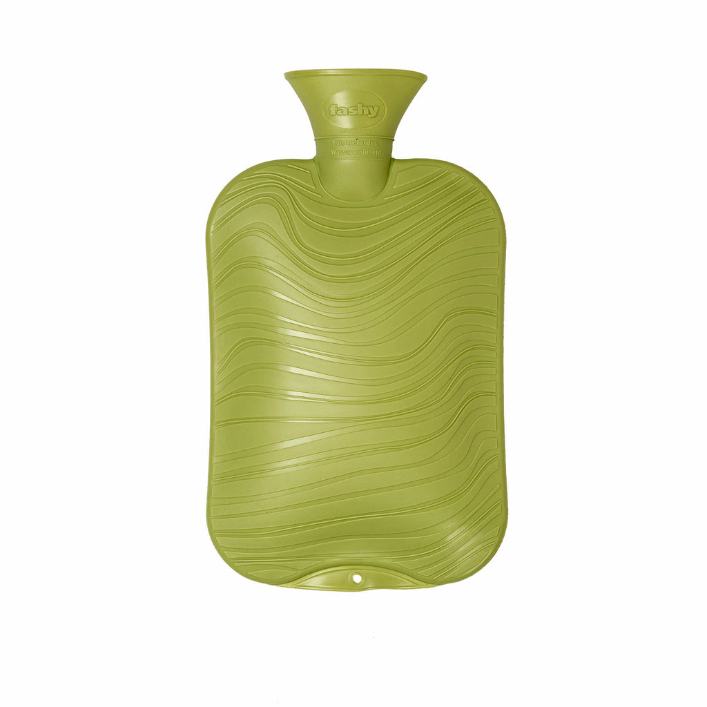 2 Litre Glow Green Wave Pattern Fashy Hot Water Bottle